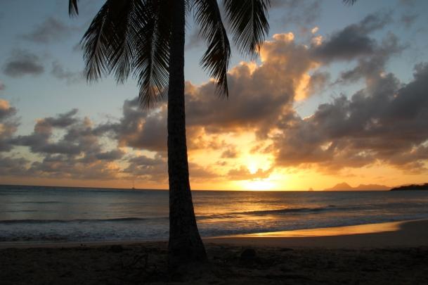 Coucher de soleil Sud Martinique